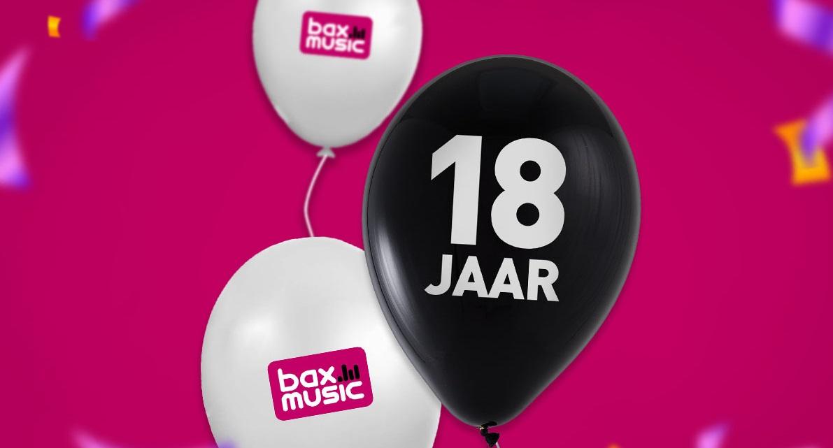 Bax Music viert vandaag haar 18-jarig bestaan