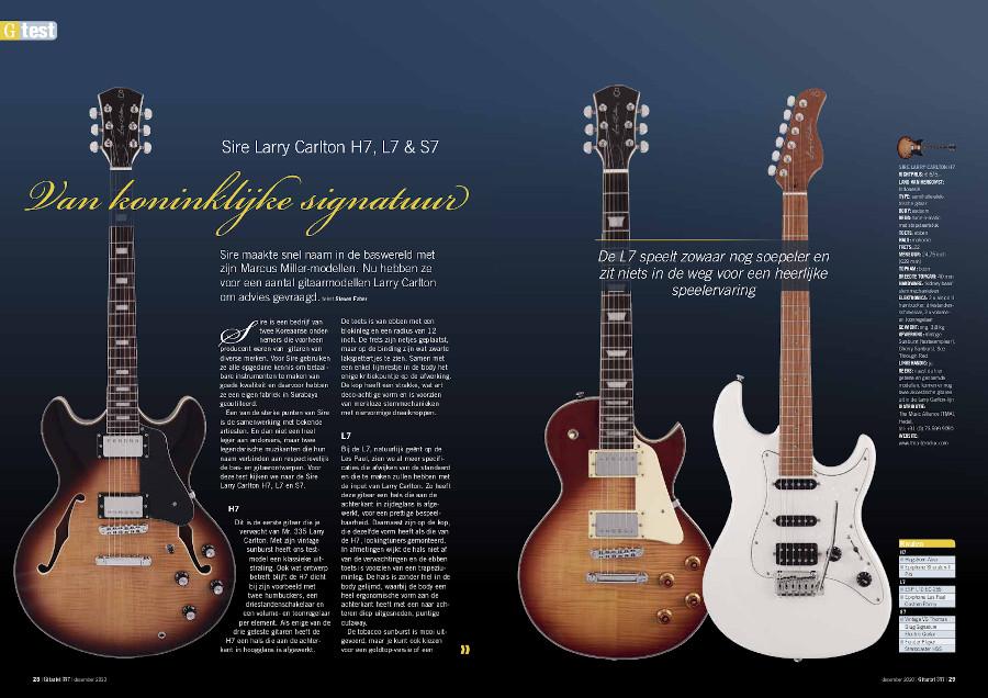 Sire Larry Carlton H7, L7 & S7 - test uit Gitarist 357