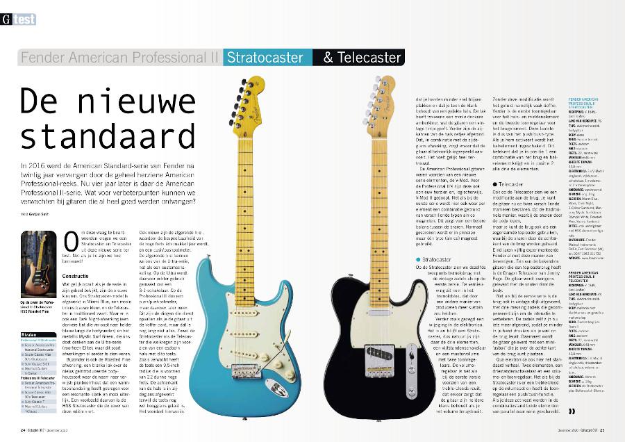 Fender American Professional II Stratocaster & Telecaster - test uit Gitarist 357