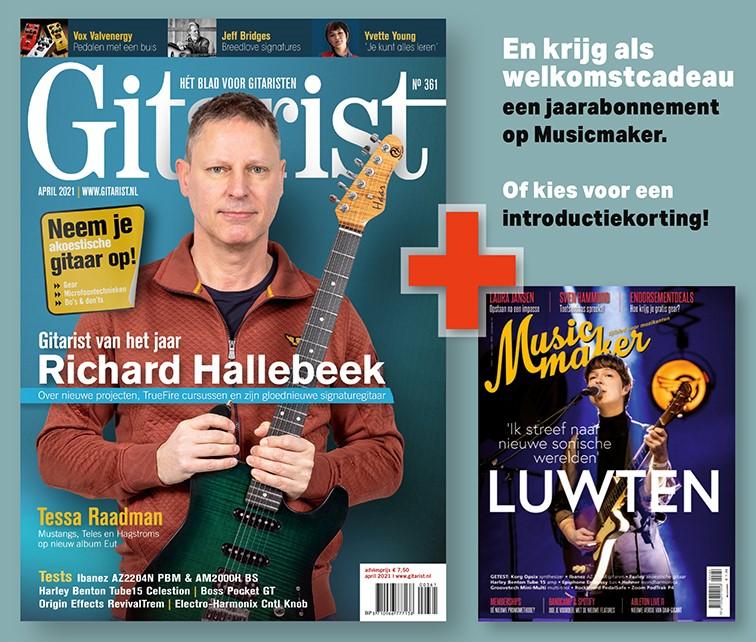 Bij een abonnement Gitarist nu Musicmaker als welkomstcadeau!