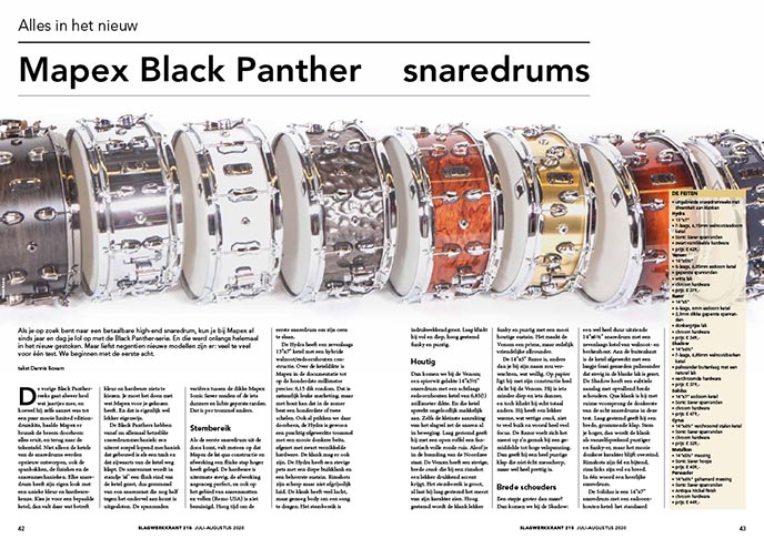 Mapex Black Panther snaredrums