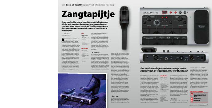 Zoom V6 Vocal Processor multieffectpedaal voor zang