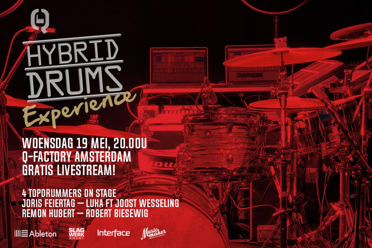 Programma Hybrid Drums Experience 2021 - woensdag 19 mei - gratis livestream
