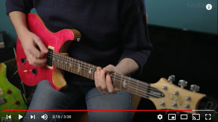 Video bij de PRS test in Gitarist 362