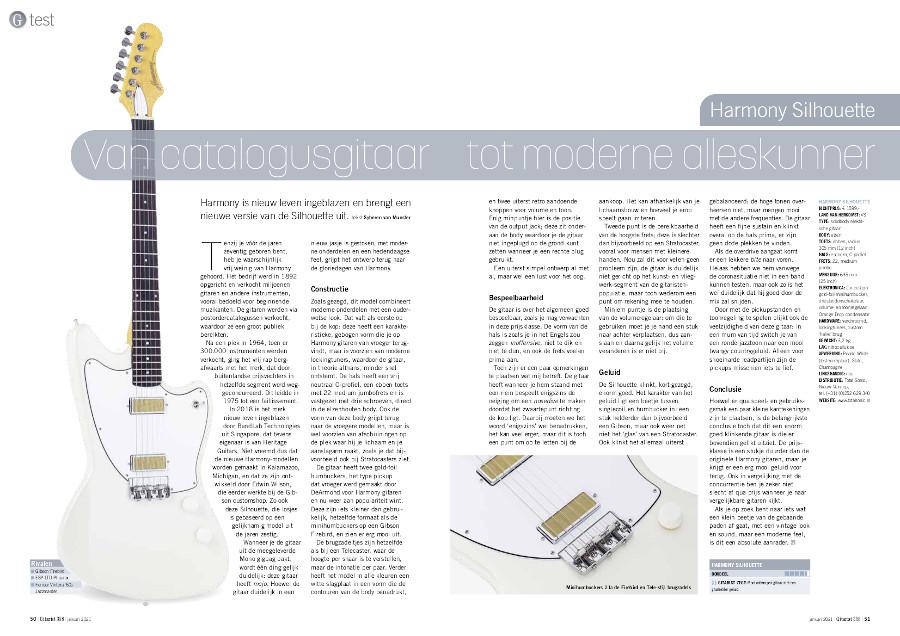 Harmony Silhouette - test uit Gitarist 358