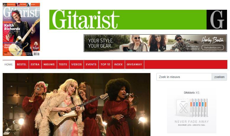 Onze website Gitarist.nl is vernieuwd