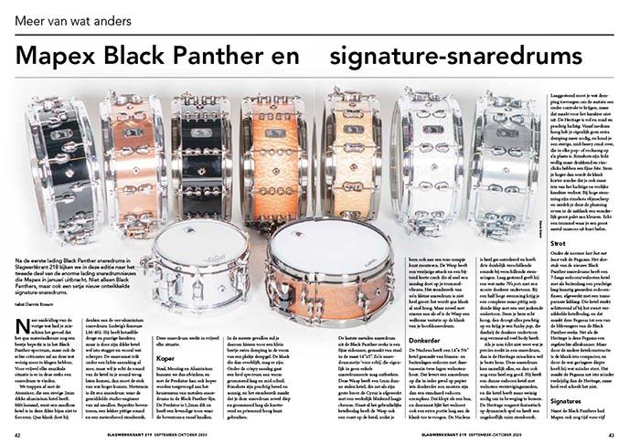 Mapex Black Panther en signature-snaredrums deel 2