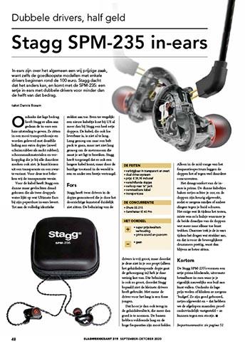 Stagg SPM-235 in ears