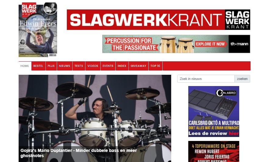 Onze website Slagwerkkrant.nl is vernieuwd