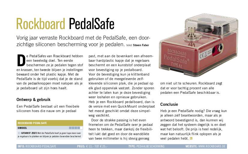 Rockboard PedalSafe - test uit Gitarist 360