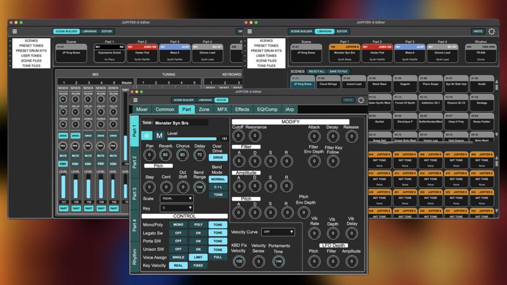 Roland Jupiter X/Xm editor