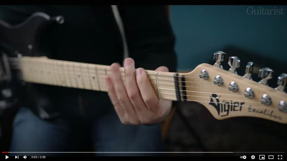 Video bij de Vigier test in Gitarist 364