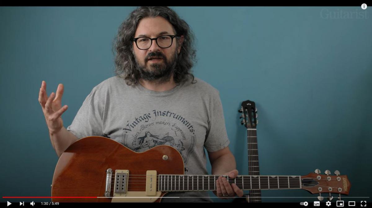 Video bij de Gretsch test in Gitarist 364