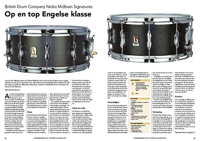 British Drum Company Nicko McBrain Signatures