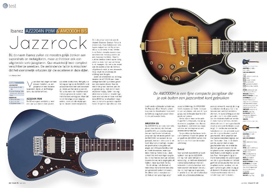 Ibanez AZ2204N PBM & AM2000H BS - test uit Gitarist 361