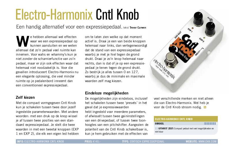 Electro-Harmonix Cntl Knob - test uit Gitarist 361