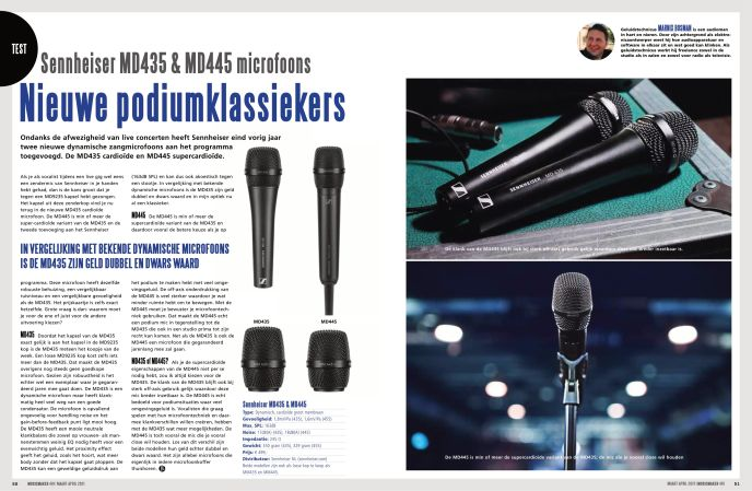 Sennheiser MD435 & MD445 microfoons