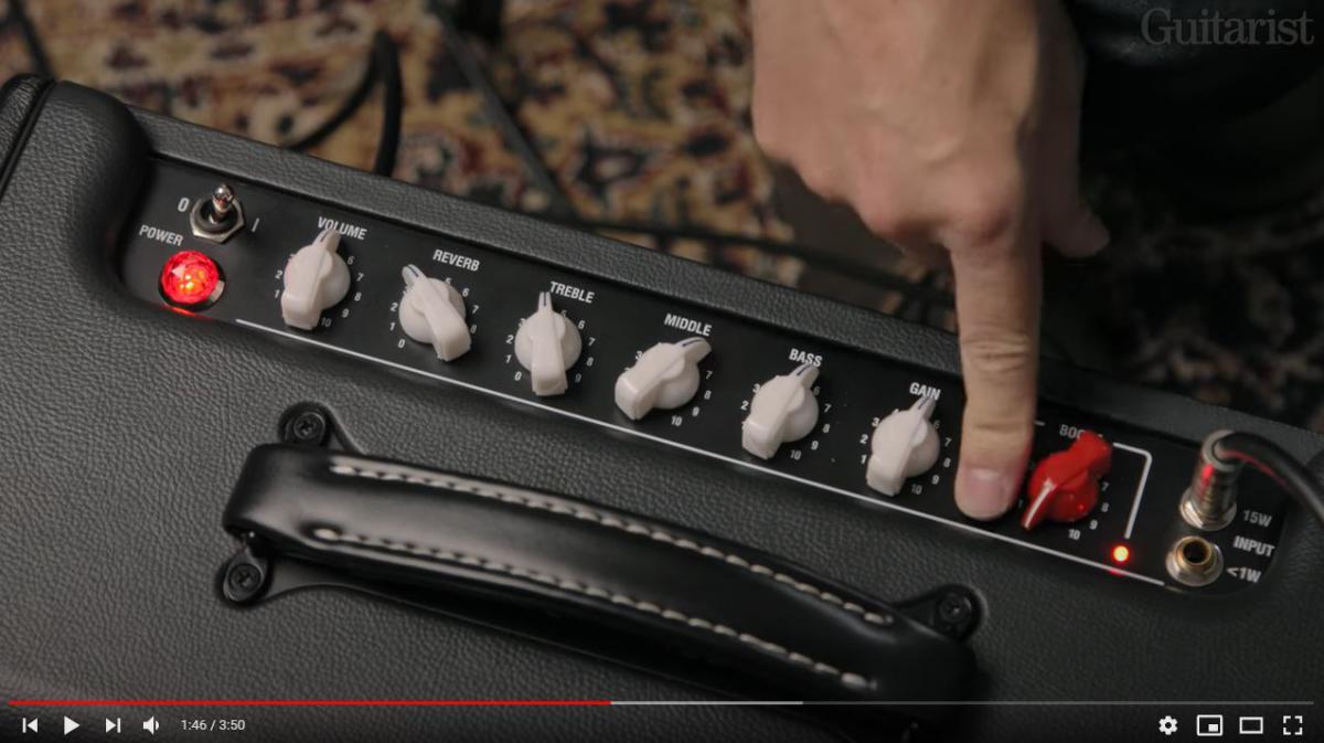 Video bij de Laney test in Gitarist 366