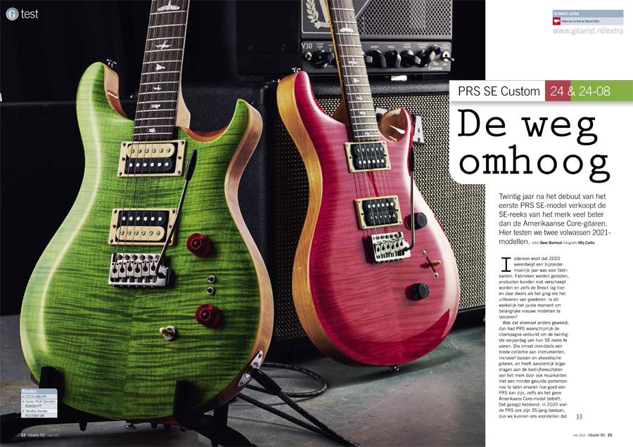 PRS SE Custom 24 & 24-08 - test uit Gitarist 362