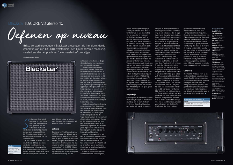 Blackstar ID:CORE V3 Stereo 40 - test uit Gitarist 362