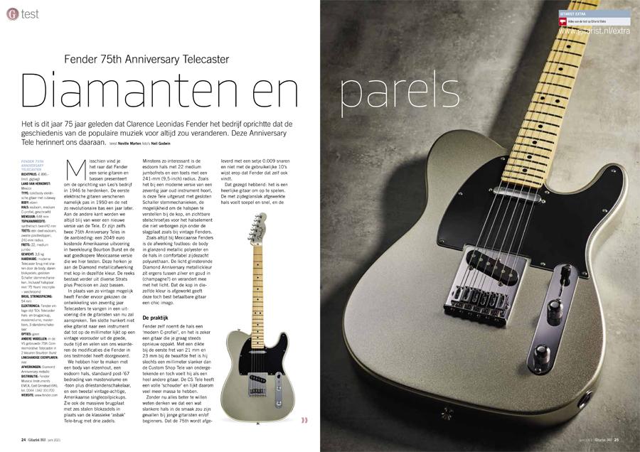 Fender 75th Anniversary Telecaster - test uit Gitarist 363