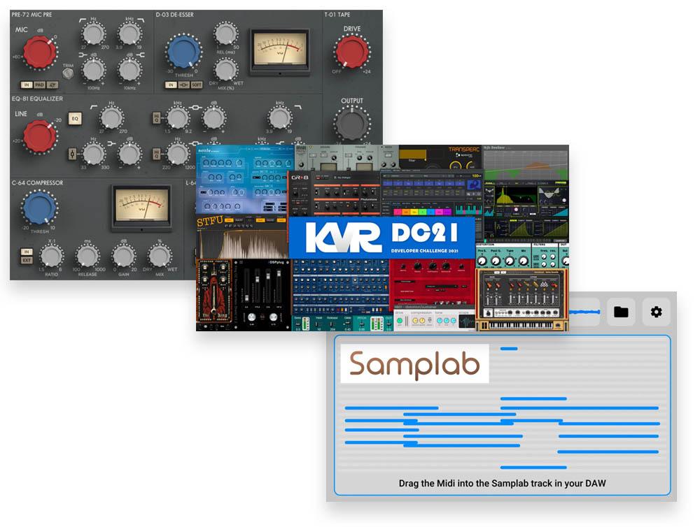 Download nieuwe freeware! Chanev, KVR-dc2021 en Samplab
