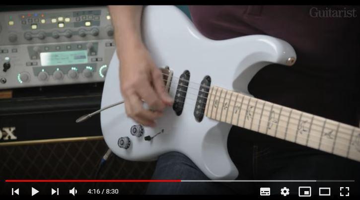 Video bij de PRS test in Gitarist 367